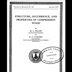 STRUCTURE, OCCURRENCE, AND PROPERTIES OF COMPRESSION WOOD