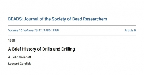 A Brief History of Drills and Drilling